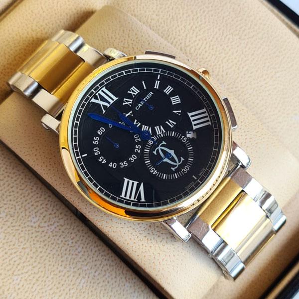 Cartier CC9008 Balloon Beu De Chronograph Chain Strap Wrist Watch