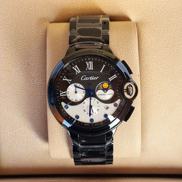 Cartier CC9008 Black Moon Chronograph Chain Strap