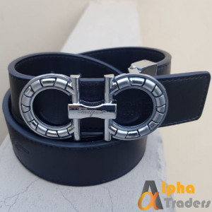 Ferragamo Silver Buckle New Belt