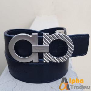 Silver Buckle Ferragamo Belt