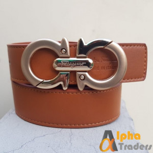 Ferragamo Belt with Gold Buckle