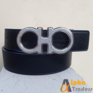 Silver Shiny Buckle Ferragamo Belt