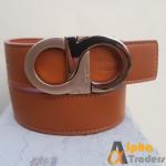 Ferragamo Gold Mixed Color Buckle Belt