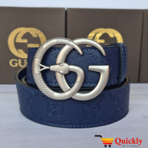 Gucci Imported Belt Silver Color Buckle