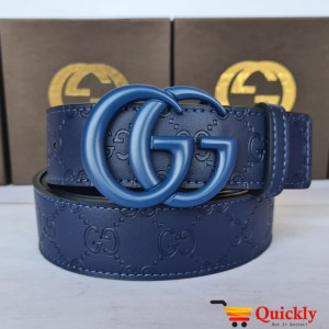Gucci Imported Belt Blue Buckle