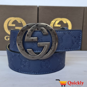 Gucci Imported Belt Grey Buckle