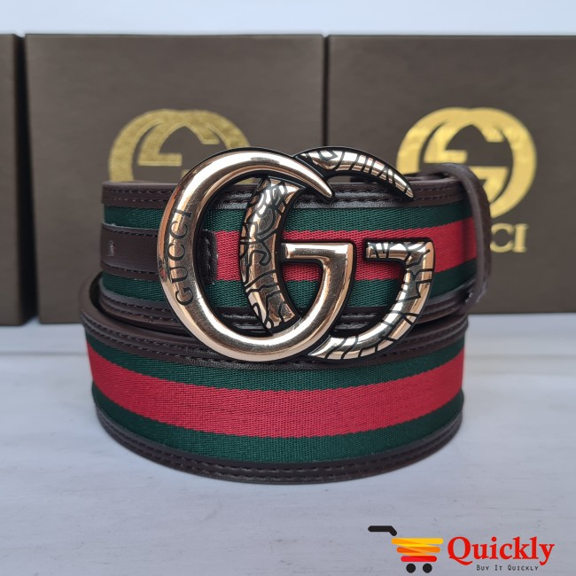 Gucci Imported Belt Gold Buckle