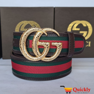 Gucci Imported Belt Gold Color Buckle