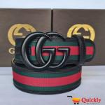 Gucci Imported Belt Black Snake Buckle