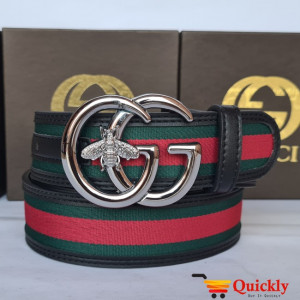 Gucci Imported Belt Silver Stylish Buckle