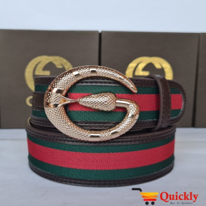 Gucci Imported Belt Gold Snake Stylish Buckle