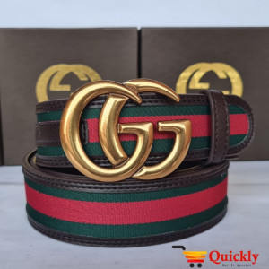 Gucci Imported Belt Gold Stylish Buckle
