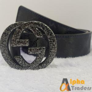 Gucci Belt Imported Black Grey Buckle