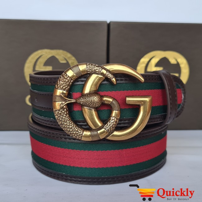 Gucci Imported Belt Gold Color Stylish Buckle