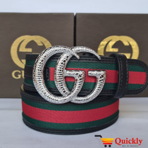 Gucci Imported Belt Silver Color Stylish Buckle
