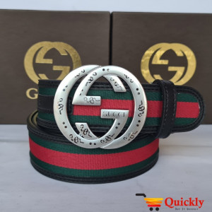 Gucci Imported Belt Silver Color Unique And Stylish Buckle
