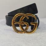 Gucci Copper Gold Snake Buckle Belt