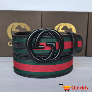 Gucci Imported Belt Black Buckle