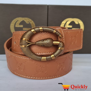 Gucci Imported Belt Gold Snake Design Stylish Buckle