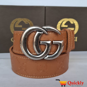 Gucci Imported Belt Silver Buckle Stylish Design