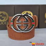 Gucci Imported Belt Multi Color Buckle
