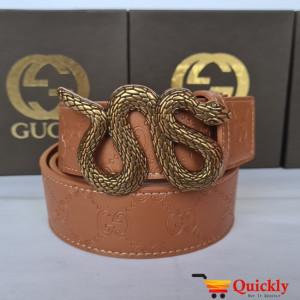 Gucci Imported Belt Gold Color Snake Design Stylish Buckle