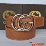 Gucci Imported Belt Golden Buckle