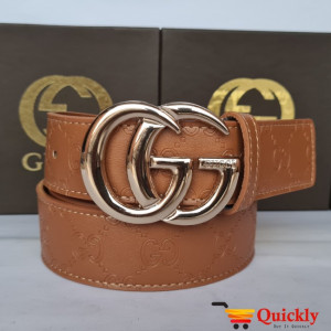 Gucci Imported Belt Golden Buckle