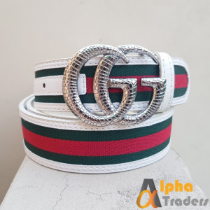 Gucci Imported Silver Snake Belt