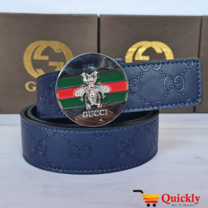 Gucci Imported Belt Silver Buckle