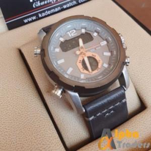 Kademan K9036 analog Digital Watch Leather with Night Vision