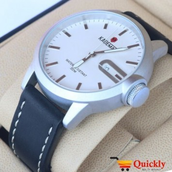 Kademan 529G Watch Leather Strap With Date