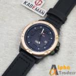Kademan 6014B Watch Leather Strap With Day & Date