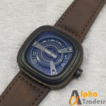 Kademan 365B-3 Watch Leather Strap Seven Friday Design Stylish Watch