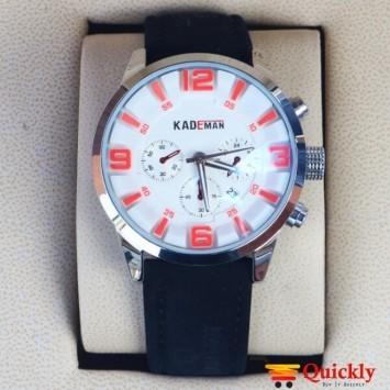 Kademan 628G Watch Leather Strap Stylish Watch With Date