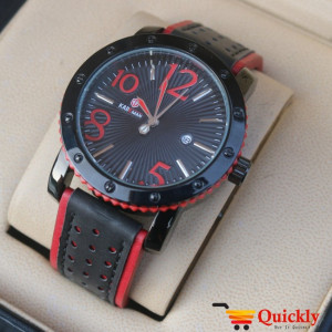 Kademan 9020G Watch Leather Strap With Date