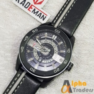 Kademan 803G Watch Leather Strap With Date