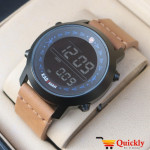 Kademan 6181G Watch Leather Strap Digital Watch