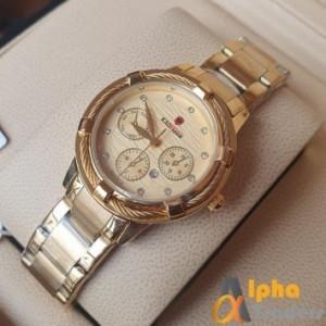 Kademan 835 Ladies Watch With Date & Chain Strap