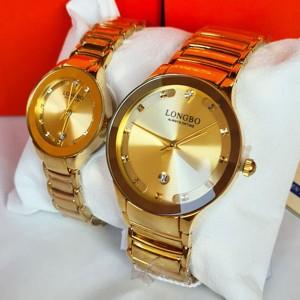 Longbo Original Couple Watches Gold Color Rado Style