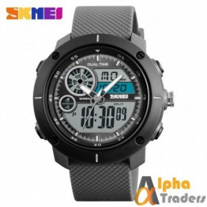 SKMEI 1361 Chronograph Alarm Dual Display Men Quartz Digital Watch