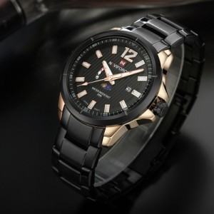 Naviforce NF-9084 Chain Strap  Black Color  Watch