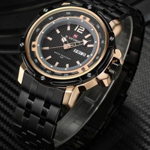 Naviforce NF-9073 Chain Strap & Gold  Black Color  Watch