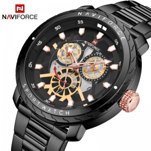 Naviforce NF9158 Chain Strap Black Color  Watch