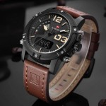 Naviforce NF9095 Leather Strap Watch