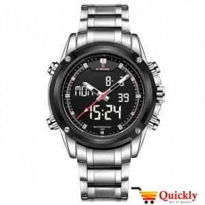 NAVIFORCE NF9050M Men Watch Chain Strap Analog & Digital