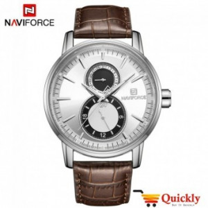 NAVIFORCE NF3005M Chronograph Watch Texture Leather Strap