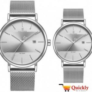 NAVIFORCE NF3008G pair watch silver