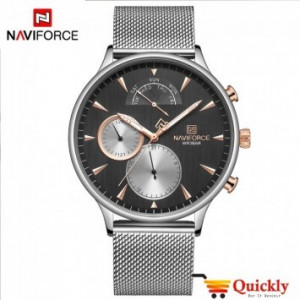 NAVIFORCE NF3010m silver Chain Men Watch