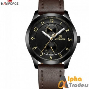 NAVIFORCE NF3004M leather Men watch